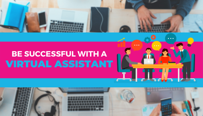 virtual assistant helping business owner to be successful
